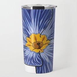 Blue Primrose Flower Travel Mug