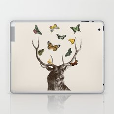 The Stag and Butterflies Laptop & iPad Skin