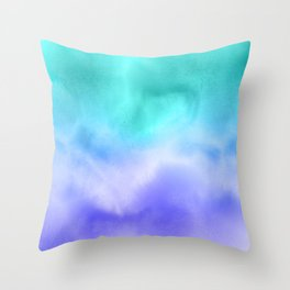 Blue Abstract Sky Throw Pillow
