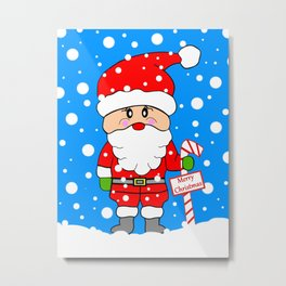 Merry Christmas Santa Metal Print