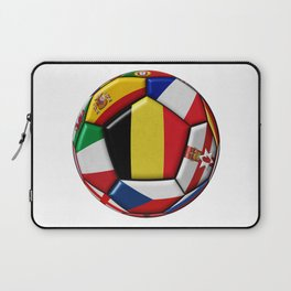 Soccer ball with flag of Belgium in the center Laptop Sleeve