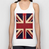 british Tank Tops featuring BRITISH FLAG by shannon's art space
