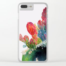 Cactus multicolour flowers Clear iPhone Case
