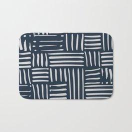 Weave in Blue Bath Mat
