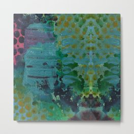 Sound Effects in Teal Metal Print