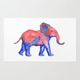 Les Animaux: Baby African Elephant Rug