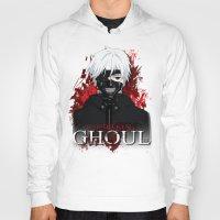 tokyo ghoul Hoodies featuring Kaneki - Tokyo Ghoul by 666HUGHES