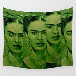 Frida Kahlo - red bow Wall Tapestry