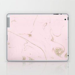 Luxe gold and blush marble image Laptop & iPad Skin
