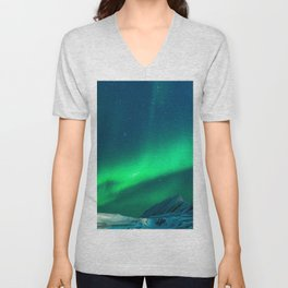 Northern Lights (Aurora Borealis) 1. Unisex V-Neck