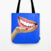 dentist Tote Bags featuring Playing At Home by Tyler Spangler