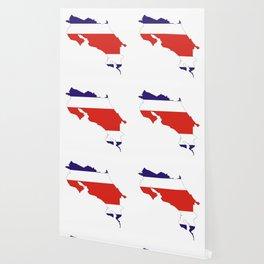 costa rica flag map Wallpaper
