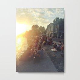 Les Quai de Seine: Summer in Paris I Metal Print