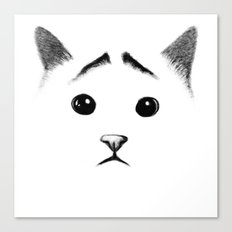 Cat with eyebrows Canvas Print