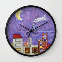 Magical Night Wall Clock