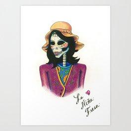 Dia de los Muertos - La Niña Fresa Art Print