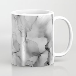 Black and White Marble Ink Abstract Painting Coffee Mug