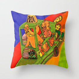 Pizza Delivery Throw Pillow