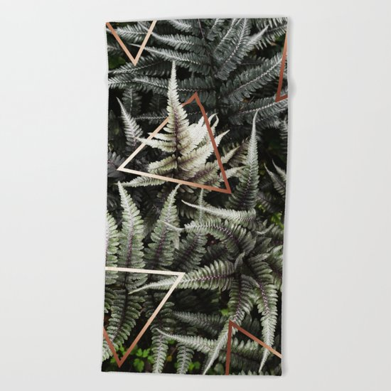 Fern + Copper #society6 #decor #buyart Beach Towel