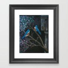 Bluebird Love  Framed Art Print