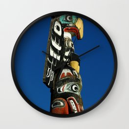 A Colorful Totem Wall Clock