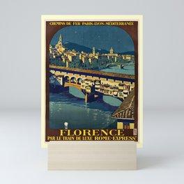 retro Florence Mini Art Print