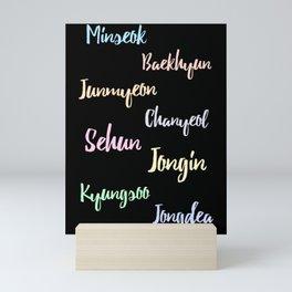 exo real name design Mini Art Print