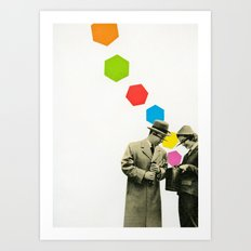 Look What I Brought! Art Print