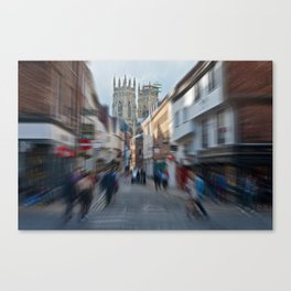 York Minster Busy Town Canvas Print