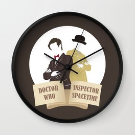 Doctor Who & Inspector Spacetime Wall Clock