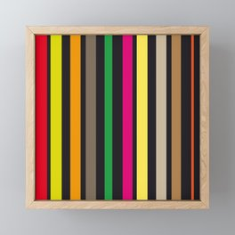 bold stripes and color Framed Mini Art Print
