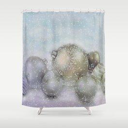 Romantic Christmas Shower Curtain