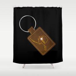 Alaska Leather Key Fob Shower Curtain