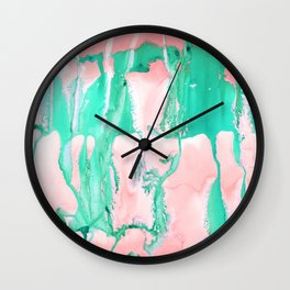 Colossal Coral Wall Clock