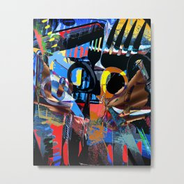 In My Kitchen Drawer a Digital abstract composition of kitchen Utensils Metal Print