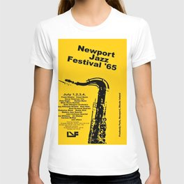 Vintage 1965 Newport, R.I Jazz Festival Advertisement Poster T-shirt