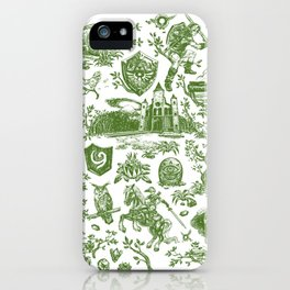 "Zelda ""Hero of Time"" Toile Pattern - Kokiri's Emerald iPhone Case"