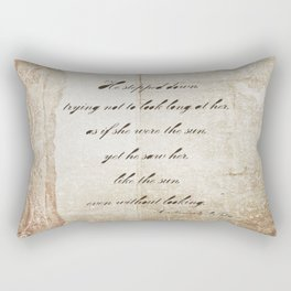 Anna Karenina Quote  As if she were the sun by Leo Tolstoy Rectangular Pillow