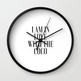 Poster I am In Love With The Coco Song Lyrics Printable Art Lyrics Art Gift For Her Fashionista Wall Clock