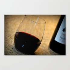Glass of wine. Canvas Print