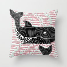 Orca Dreaming Throw Pillow