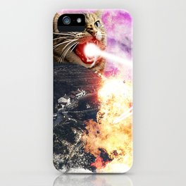 Lasers and A Small British Village iPhone Case