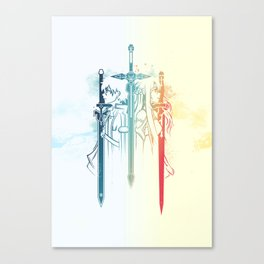 Sword Art Duo Canvas Print