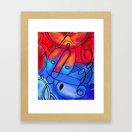 Red Blue Framed Art Print