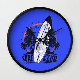 Summer Time - Surf Club Wall Clock