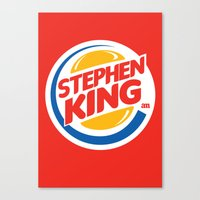 stephen king Canvas Prints featuring Stephen King by Alejo Malia