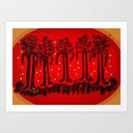 Bonnets Art Print