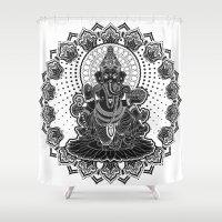 ganesha Shower Curtains featuring Ganesha by Konstantin Myatchin