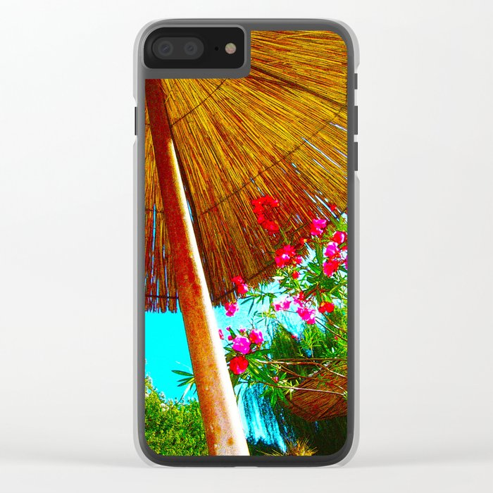 HOLIDAY Clear iPhone Case