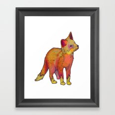 Watercolor Fox Framed Art Print